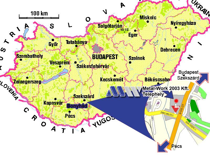 bonyhád térkép PRODUKTOR 99 KFT bonyhád térkép